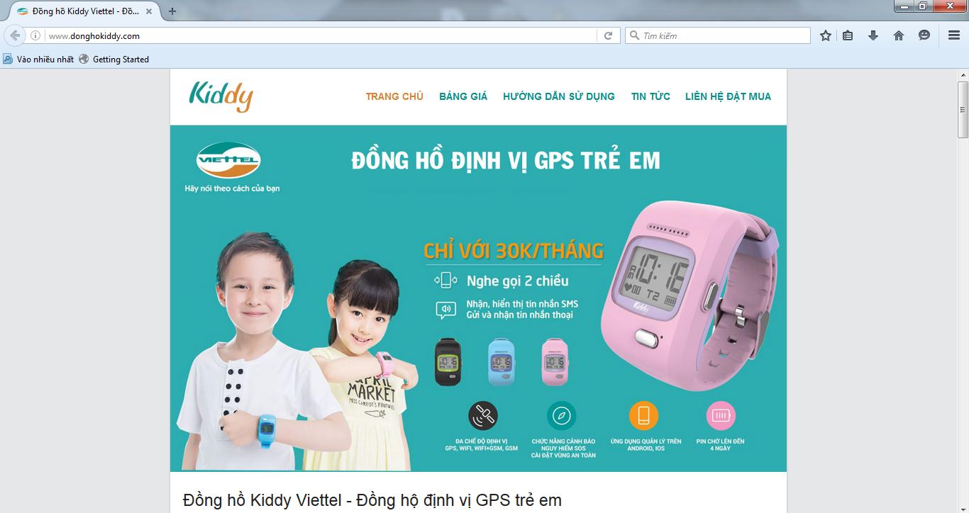 Website giả, mạo danh Đồng hồ thông minh Kiddy
