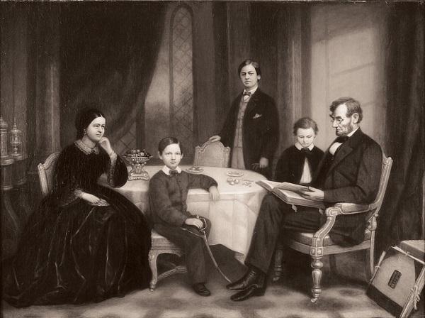 Gia đình với vợ và những cậu con trai của vị tổng thống lỗi lạc Abraham Lincoln.