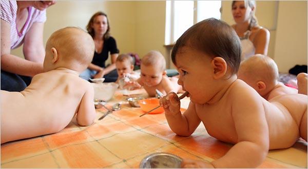 Trẻ em Đức được rèn tự lập từ sơ sinh (Ảnh minh họa).